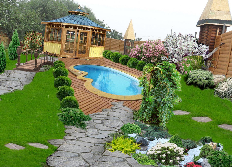 штор, покрывал, ланш дизайн садового участка фото для начинающих чем