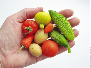 Овощи и фрукты от Дюймовочки.