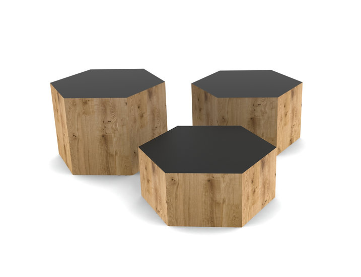 Hexagonal Coffee Table - Set