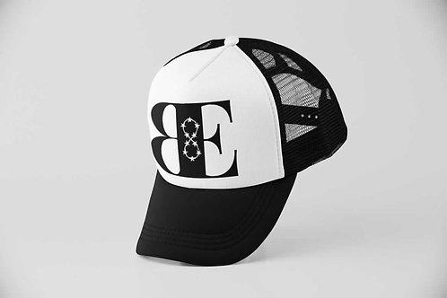 White & Black Trucker Hat