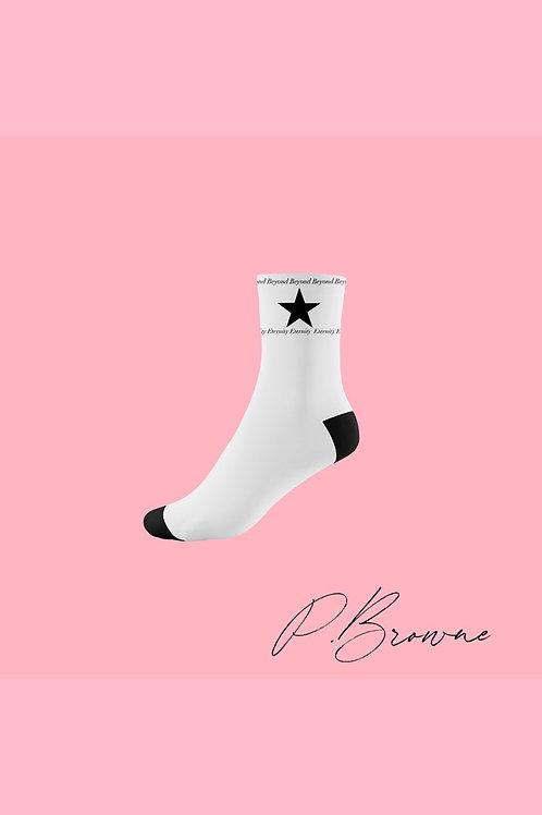 """""""Forever"""" Socks (White & Black)"""