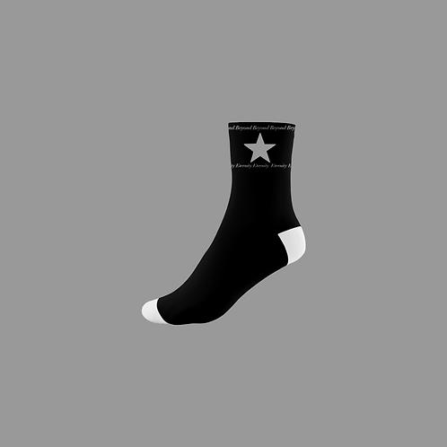 """""""Forever"""" Socks (Black & White)"""
