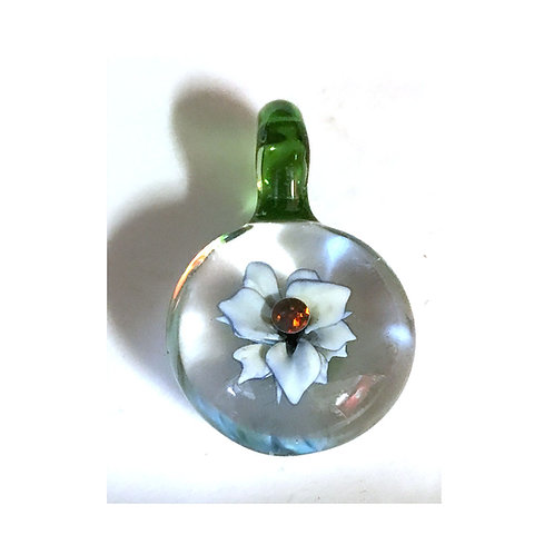 Dark Opal flower pendant