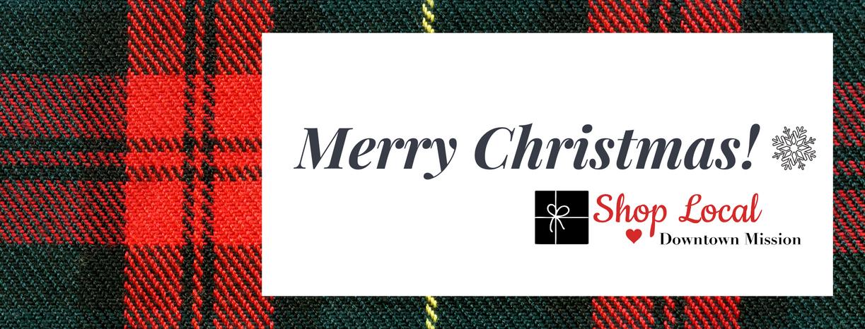 Blue Plaid Christmas Greeting Facebook C