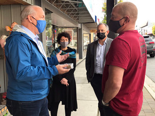 The Record - BC NDP leader tours through downtown Mission