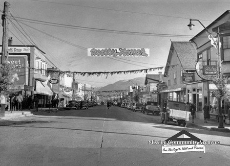 """Main Street Decked Out in Christmas Garb,"" 1948"
