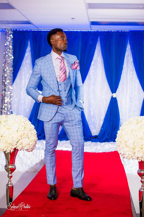 Light blue 3 piece suit
