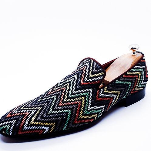 multi color loafers