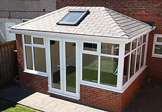 pvc conservatory with solid roof