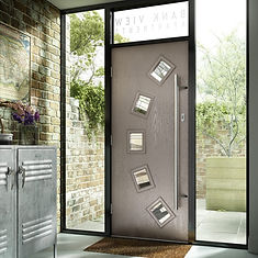 modern composit front door white