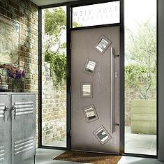 modern composit front door white