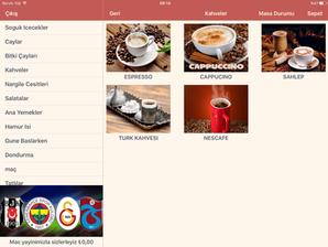 vega şefim yazılım tablet menü