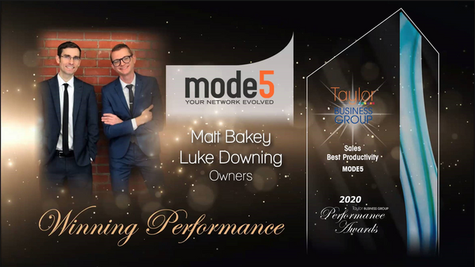 Mode5 Wins Sales Productivity Award by Taylor Business Group