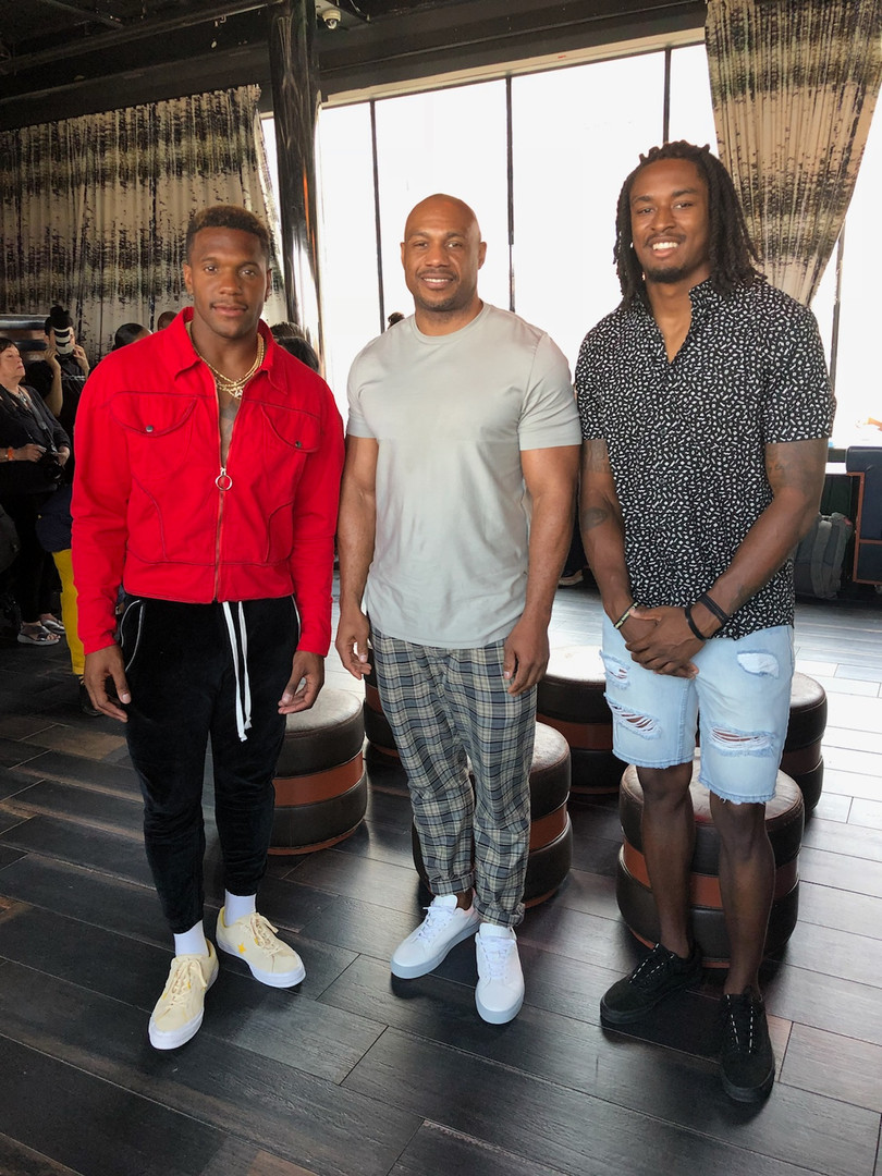 Rodney McLeod (Eagles) Tye Smith (Titans) meets 'Biggs' one of the original founders of Roc Nation
