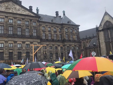 Peaceful protest in The Netherlands