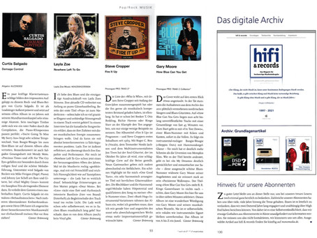 Review in HiFi&Records Magazine in Germany