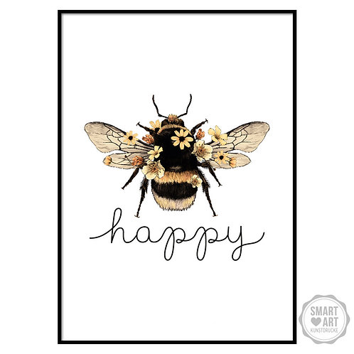 "Kunstdruck ""Bee Happy"""