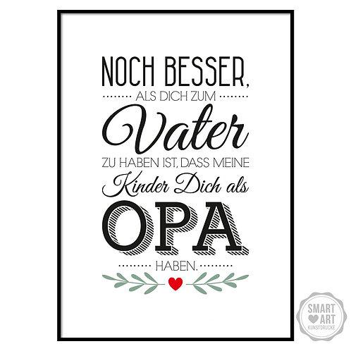 """Kunstdruck """"Bester Opa"""""""