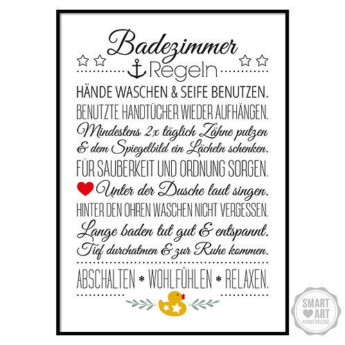 "Kunstdruck ""Bad Hausordnung"""