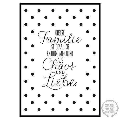 """Kunstdruck """"Chaos und Liebe"""""""