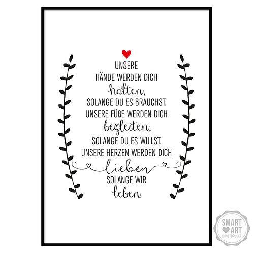 """Kunstdruck """"Wir lieben Dich"""""""