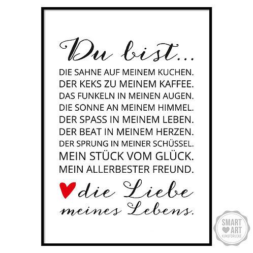 """Kunstdruck """"Liebe meines Lebens"""""""