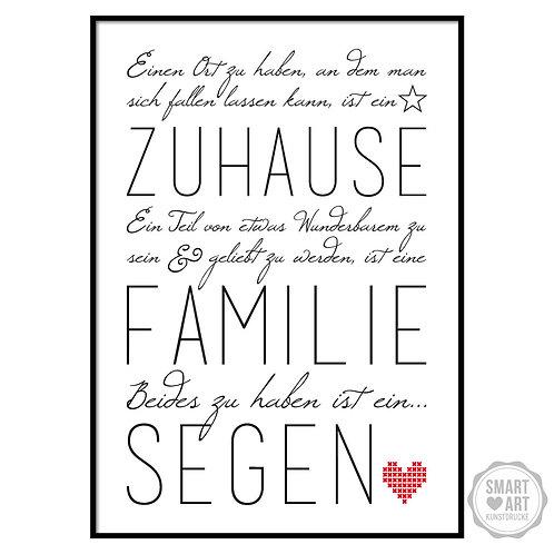 """Kunstdruck """"Familie ist ein Segen"""""""