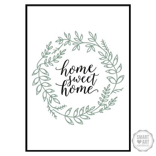 "Kunstdruck ""Sweet Home"""