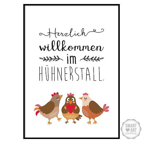 "Kunstdruck ""Hühnerstall"""