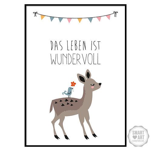 """Kunstdruck """"Schönes Leben"""""""