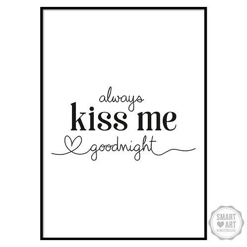 """Kunstdruck """"kiss me"""""""