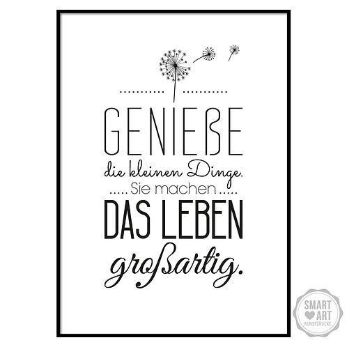 """Kunstdruck """"Genieße das Leben"""""""