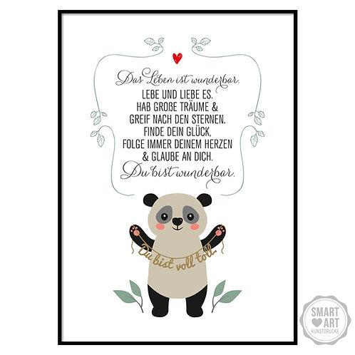 "Kunstdruck ""Panda"""