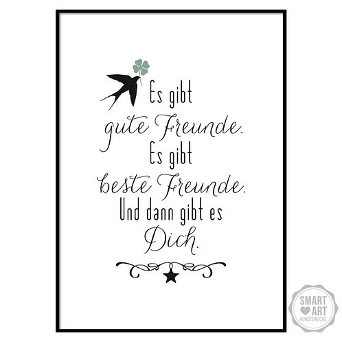 """Kunstdruck """"Freundschaft"""""""