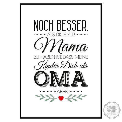 "Kunstdruck ""Beste Oma"""