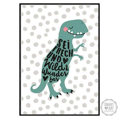 """Kunstdruck """"wilder Dino"""""""