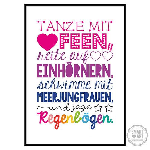 "Kunstdruck ""Jage Regenbögen"""