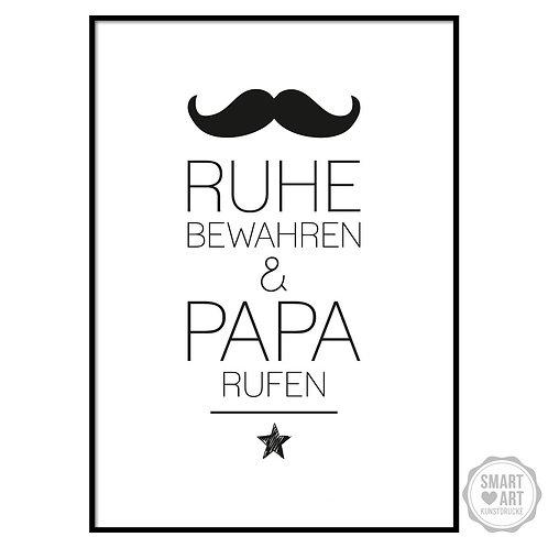 "Kunstdruck ""Papa rufen"""