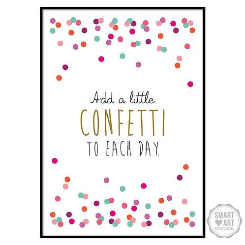 "Kunstdruck ""Confetti"""