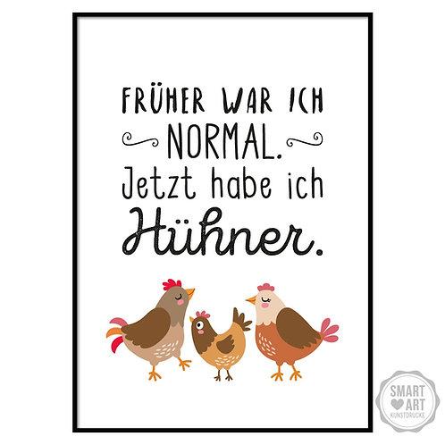 "Kunstdruck ""Hühnerverrückt"""