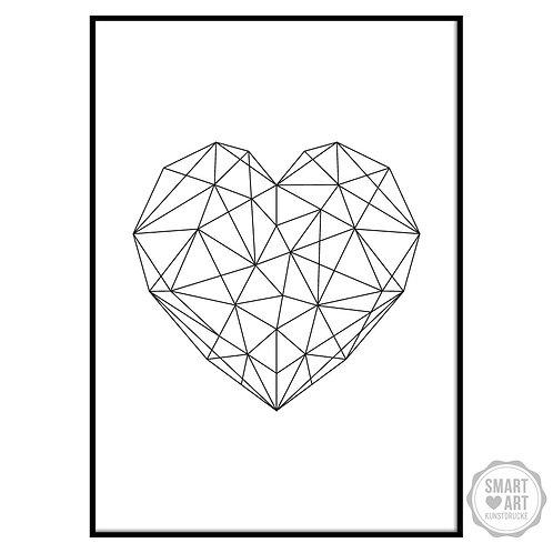 """Kunstdruck """"Geometrie Heart"""""""