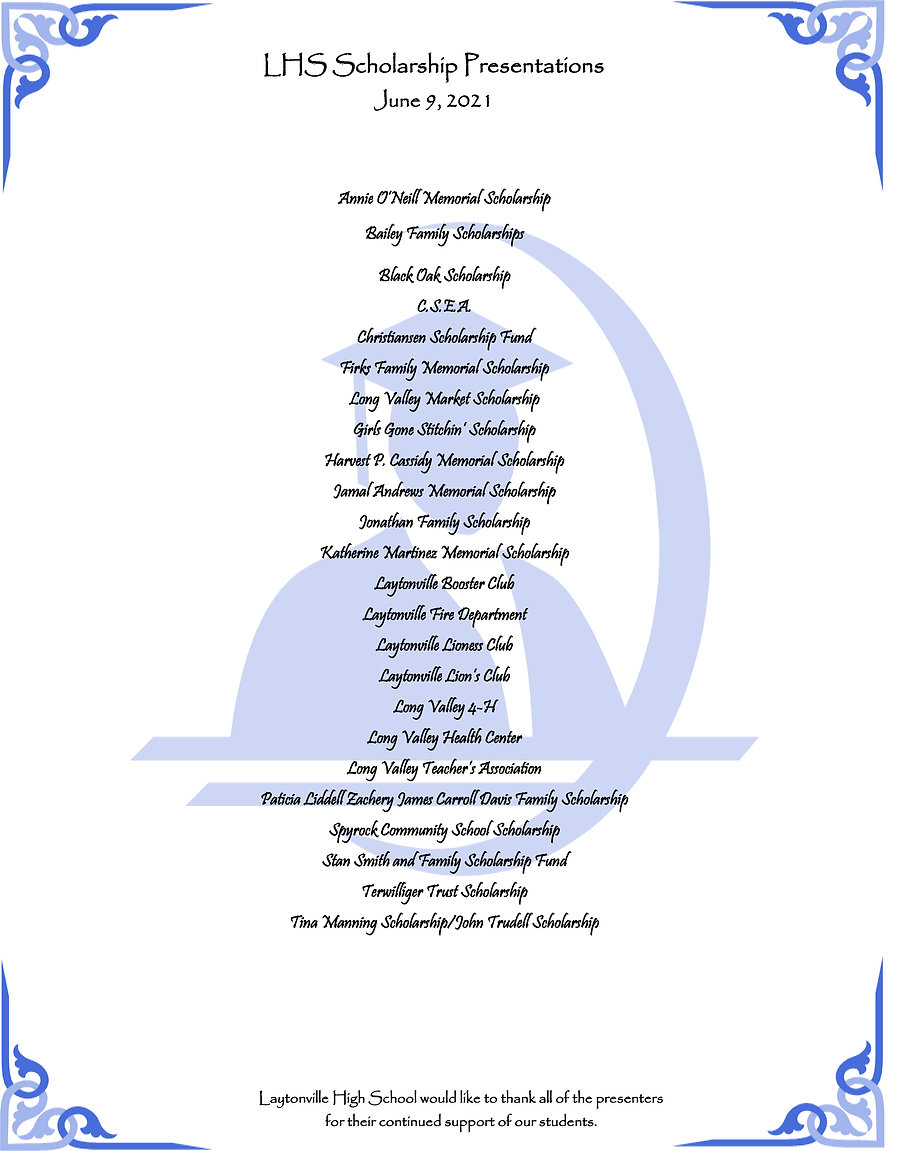 scholarship programs full page 2021 Amen