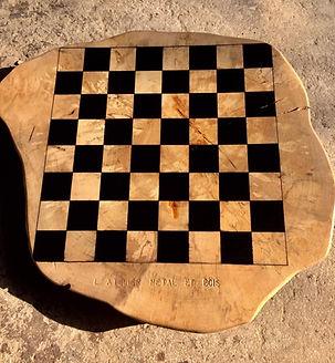 Plateau d'échecs en bouleau