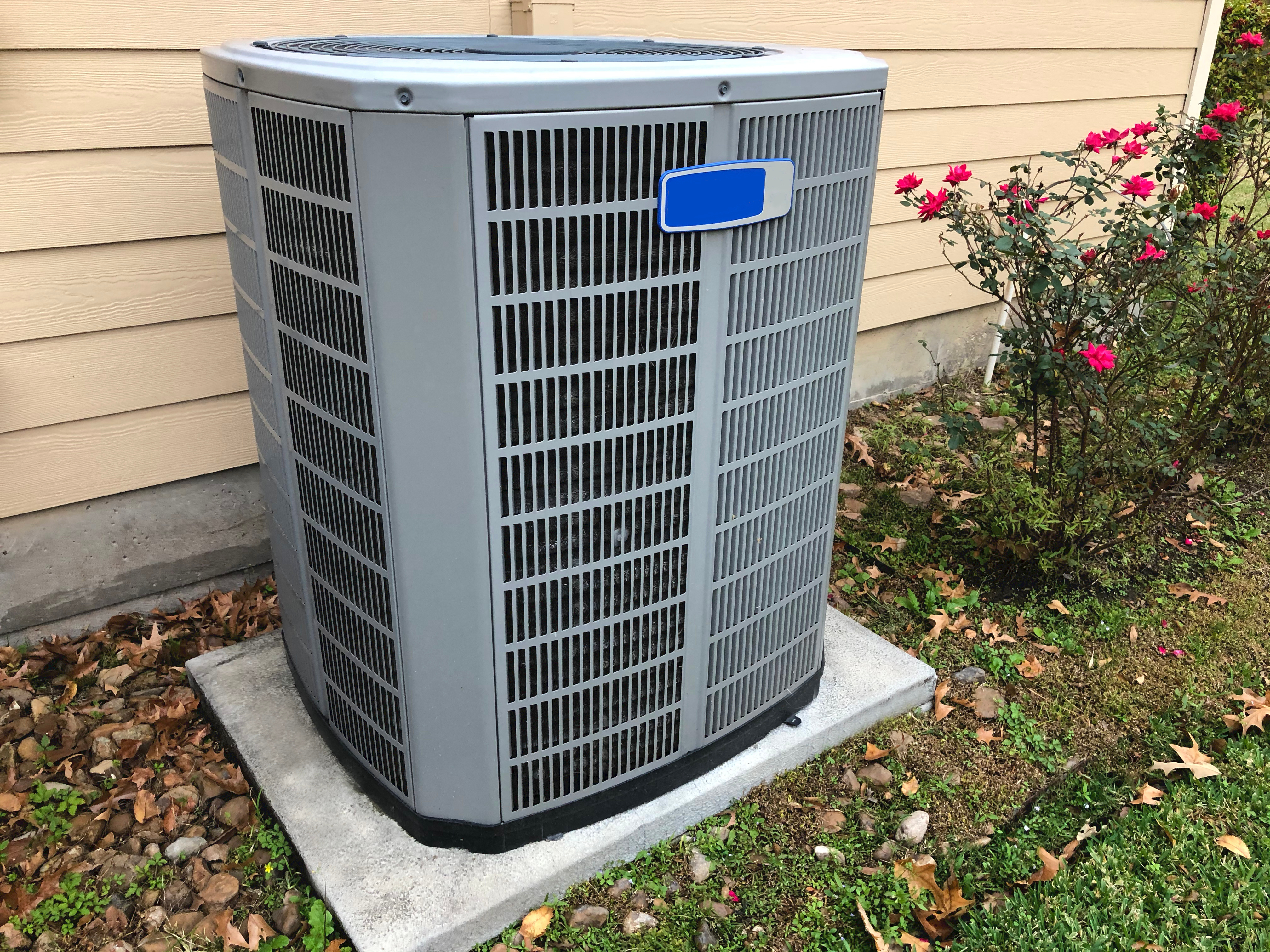 Residential house with a Hvac Unit insta