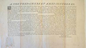 Raro e Curioso Diploma do século XVIII.