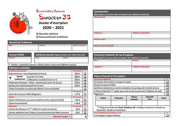 Dossier Incription-Shindozen35 - 2020- 2