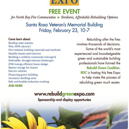 BayREN Sponsorship of Rebuild Green Expo