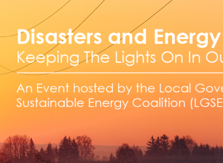 LGSEC Disasters and Energy Resilience Forum & Microgrid Tour