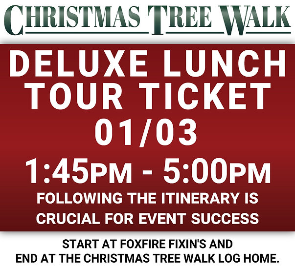 Deluxe  - 01/03 - Lunch Tour Ticket
