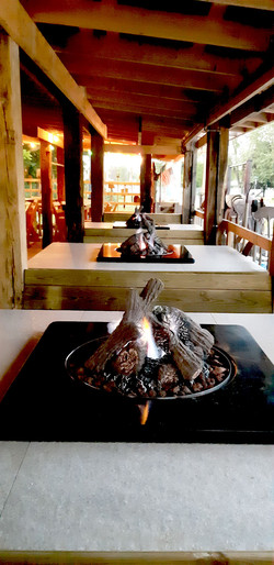 firepits in sittin' and sippin' shack